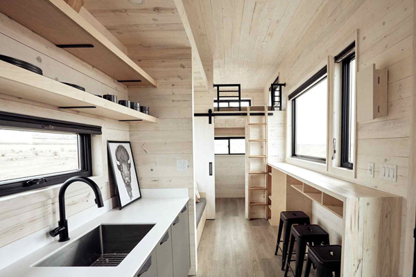 Tiny House Life in Abilene from a Shell Kit